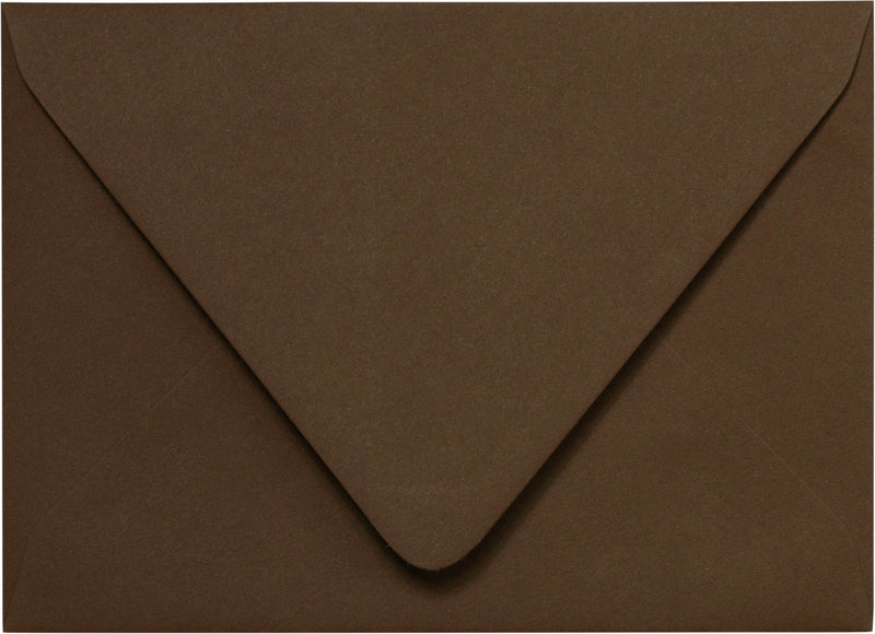 "Outer A-7.5 Solid Chocolate Brown Euro Flap Envelopes (5 1/2"" x 7 1/2"") - Paperandmore.com"