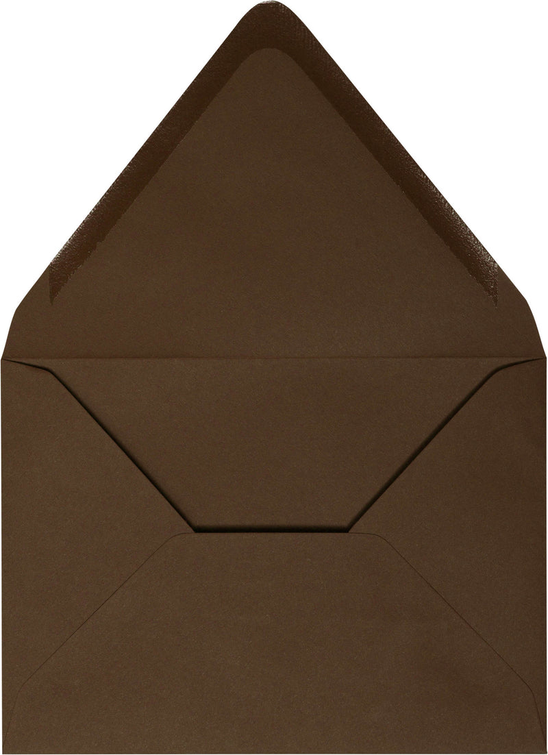 "A-7 Solid Chocolate Brown Euro Flap Envelopes (5 1/4"" x 7 1/4"") - Paperandmore.com"