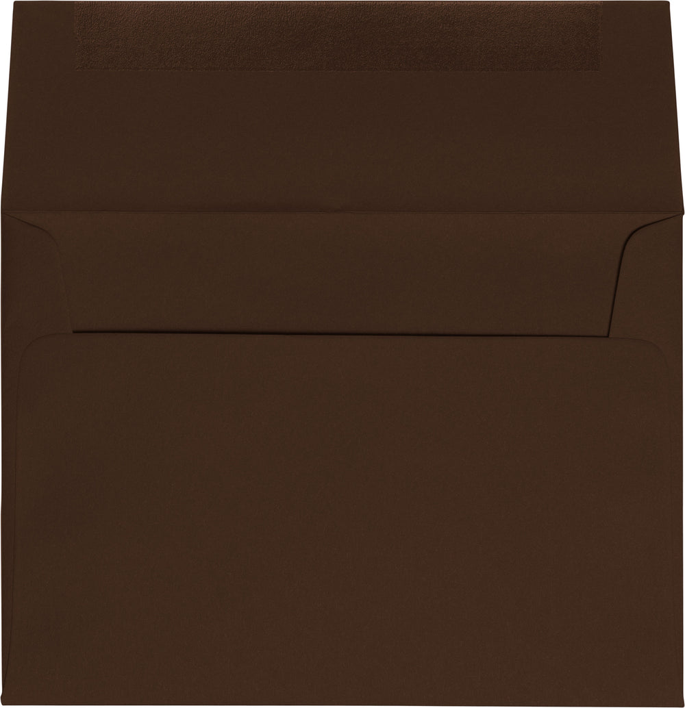 "A-7 Chocolate Brown Solid Envelopes (5 1/4"" x 7 1/4"")"