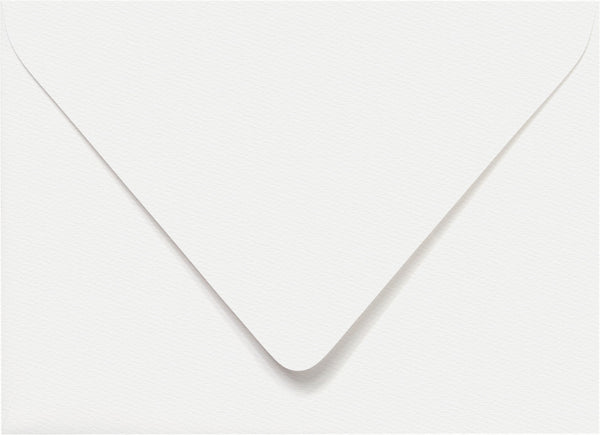 A-7 Classic Avalanche White Felt Euro Flap Envelopes (5 1/4