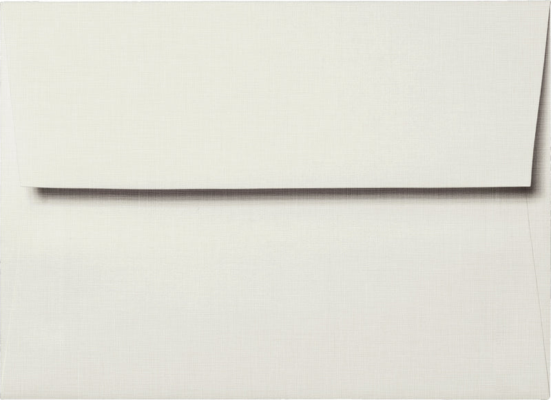 "A-7 Bright White Linen Envelopes (5 1/4"" x 7 1/4"") - Paperandmore.com"