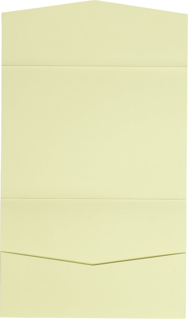 Classic Ivory Linen Pocket Invitation Card, A7 Atlas
