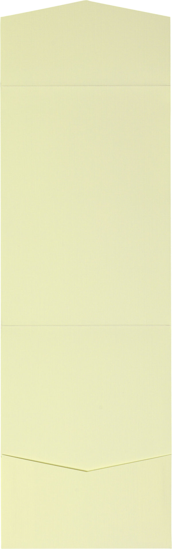 Classic Ivory Linen Pocket Invitation Card, A7 Cascade