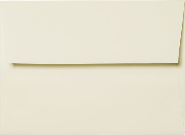 "A-7 Classic Natural Cream Solid Envelopes (5 1/4"" x 7 1/4"") - Paperandmore.com"