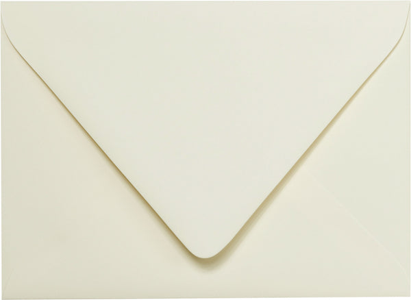 A-7 Classic Natural Cream Solid Euro Flap Envelopes 5 1/4