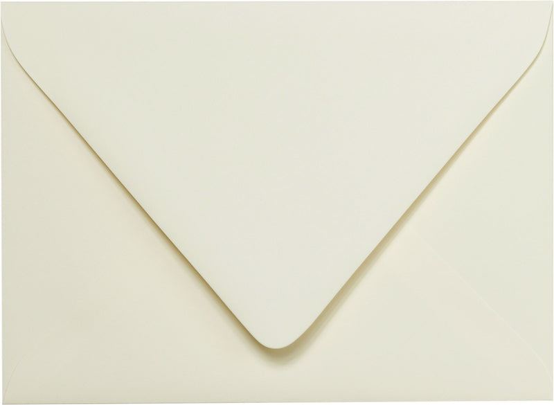 "A-7 Classic Natural Cream Solid Euro Flap Envelopes 5 1/4"" x 7 1/4"" - Paperandmore.com"