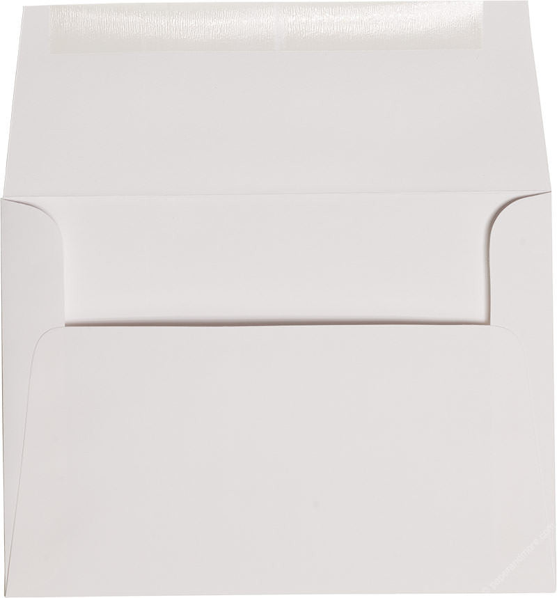 "A-7 Classic White Solid Envelopes (5 1/4"" x 7 1/4"") - Paperandmore.com"