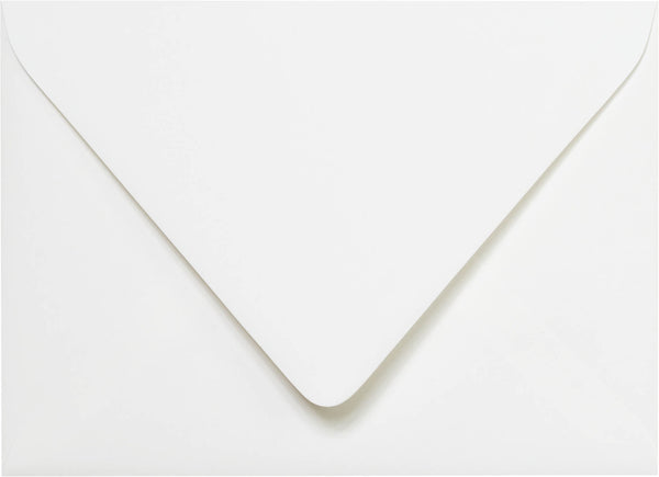 A-7 Classic White Solid Euro Flap Envelopes 5 1/4