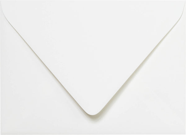 A-7 Classic White Solid Euro Flap Inner Envelopes - Ungummed - (5 1/4