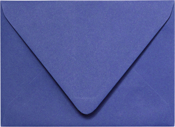 A-2 Cobalt Blue Solid Euro Flap Envelopes (4 3/8