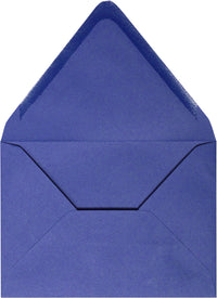 "A-1 (4 Bar) Cobalt Blue Solid Euro Flap Envelopes (3 5/8"" x 5 1/8"")"