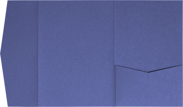 Cobalt Blue Solid Pocket Invitation Card, A7 Himalaya