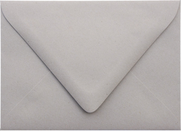 A-7 Concrete Gray Kraft Raw Recycled Euro Flap Envelopes (5 1/4