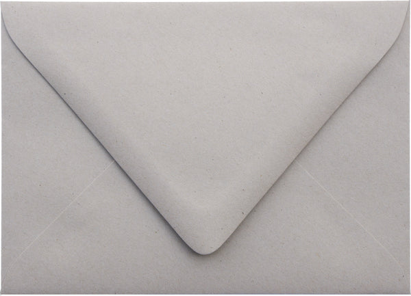 "A-1 (RSVP) Concrete Gray Kraft Raw Recycled Euro Flap Envelopes (3 5/8"" x 5 1/8"") - Paperandmore.com"