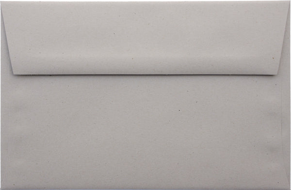 A-1 (RSVP) Concrete Gray Kraft Raw Recycled Envelopes (3 5/8