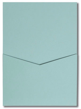 Cornflower Blue Solid Pocket Invitation Card, A7 Denali - Paperandmore.com