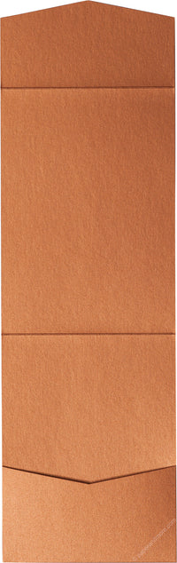 Copper Metallic Pocket Invitation Card, A7 Cascade - Paperandmore.com