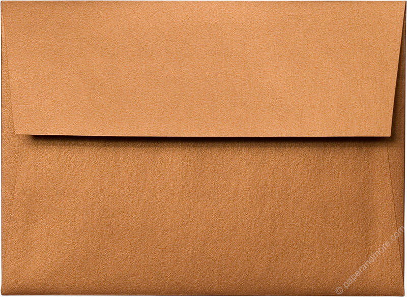A-7 Copper Metallic Envelopes - Paperandmore.com