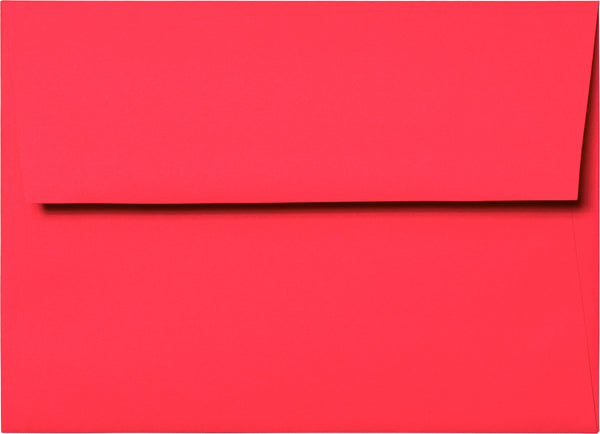 A-1 (RSVP) Solid Coral Envelopes (3 5/8