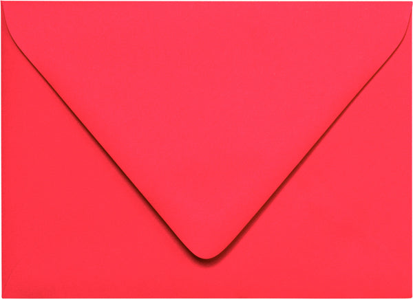 A-7 Coral Solid Euro Flap Envelopes