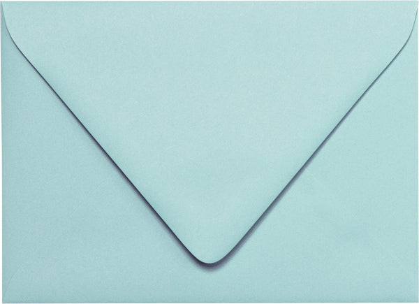 "A-7 Euro Flap -Cornflower Blue Solid Euro Flap Envelopes (5 1/4"" x 7 1/4"") - Paperandmore.com"