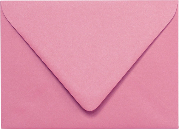 "A-7 Cotton Candy Pink Solid Euro Flap Envelopes (5 1/4"" x 7 1/4"") - Paperandmore.com"