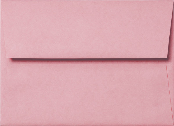 "A-7 Cotton Candy Pink Solid Envelopes (5 1/4"" x 7 1/4"") - Paperandmore.com"