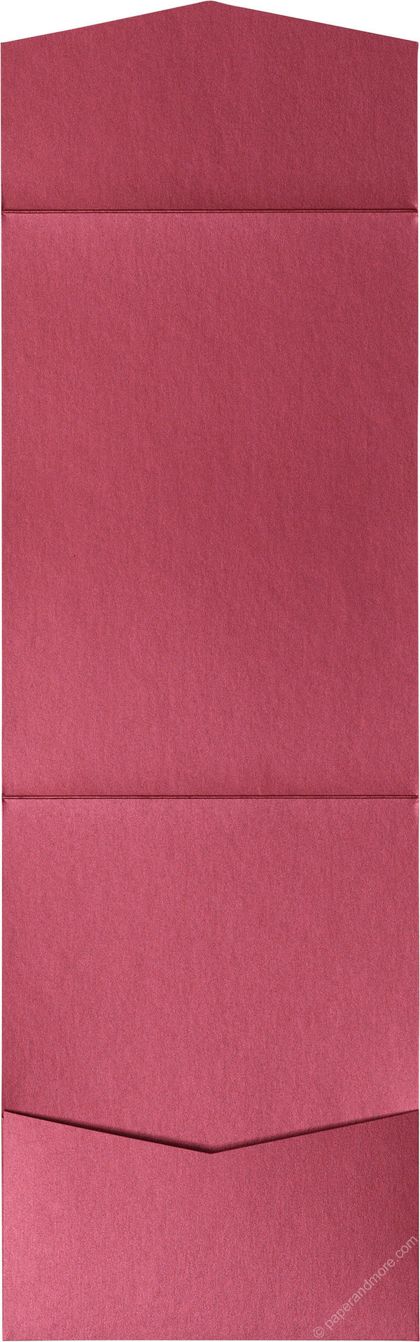 Crimson Red Metallic Pocket Invitation Card, A7 Cascade - Paperandmore.com