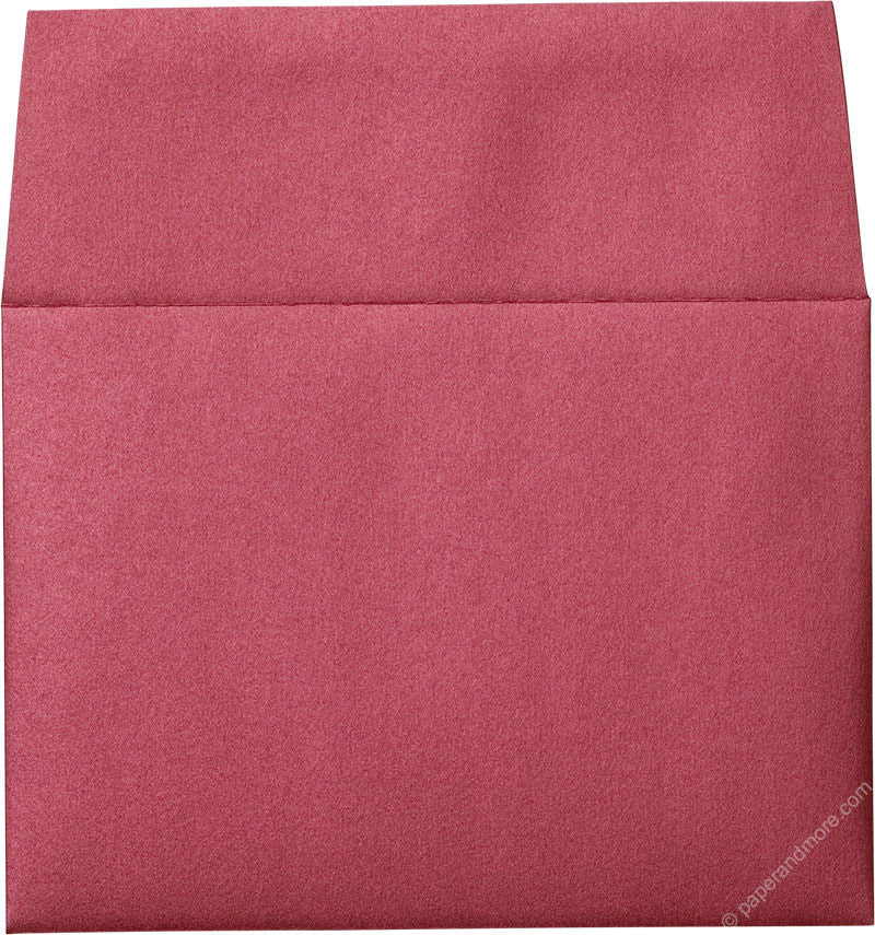 "A-7 Crimson Red Metallic Envelopes (5 1/4"" x 7 1/4"") - Paperandmore.com"