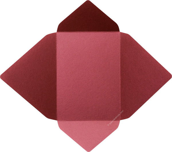 Crimson Metallic - A-7 Euro Flap Card Enclosure - Paperandmore.com