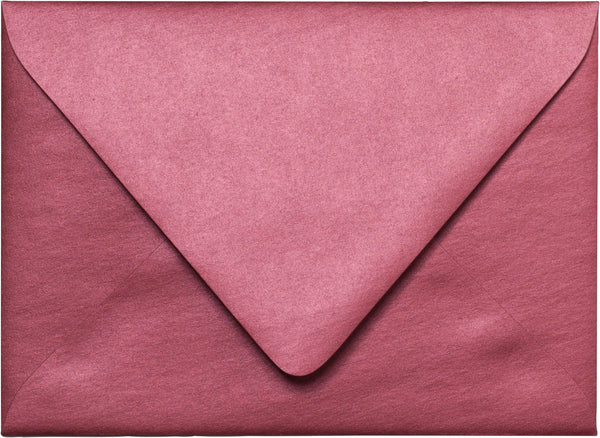 "A-7 Crimson Red Metallic Euro Flap Envelopes (5 1/4"" x 7 1/4"") - Paperandmore.com"