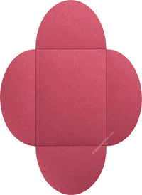"Crimson Red Metallic Petal Cards 105#, 5 1/8"" x 7"""