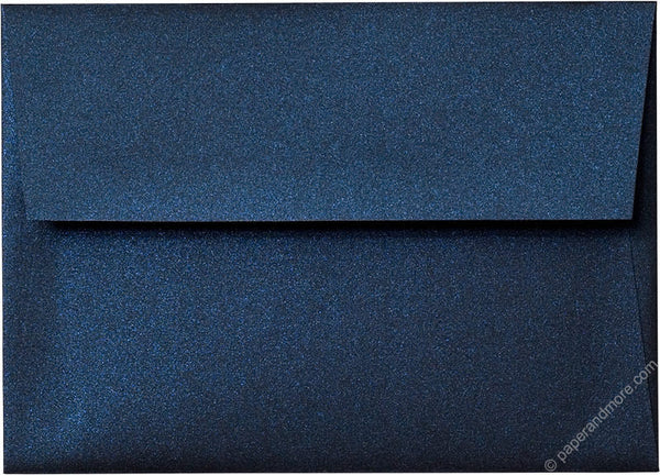 "A-7 Dark Blue Metallic Envelopes (5 1/4"" x 7 1/4"") - Paperandmore.com"