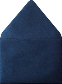 "A-7 Dark Blue Metallic Euro Flap Envelopes (5 1/4"" x 7 1/4"") - Paperandmore.com"