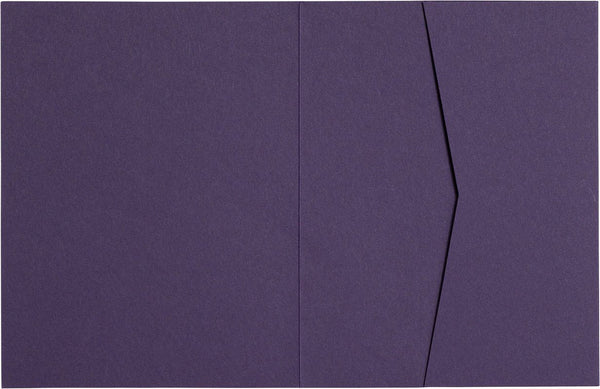 Dark Purple 80# Solid Pocket Invitation Card, A2 Sierra - Paperandmore.com