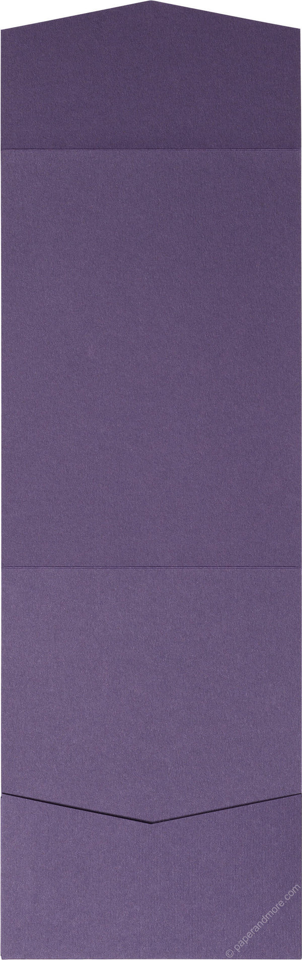 Dark Purple Solid Pocket Invitation Card, A7 Cascade - Paperandmore.com