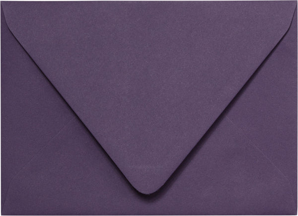 A-7 Dark Purple Euro Flap Solid Envelopes (5 1/4