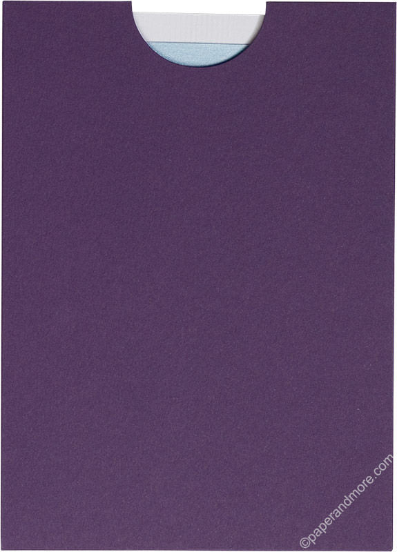 "Dark Purple Solid Sleeve, 5"" x 7"" - Paperandmore.com"