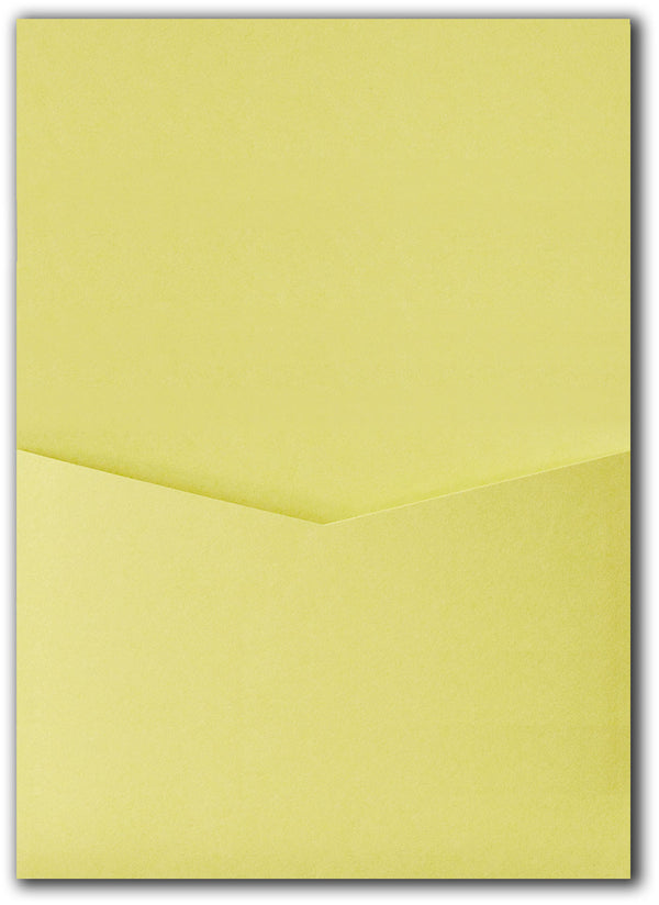 Banana Yellow Solid Pocket Invitation Card, A7 Denali