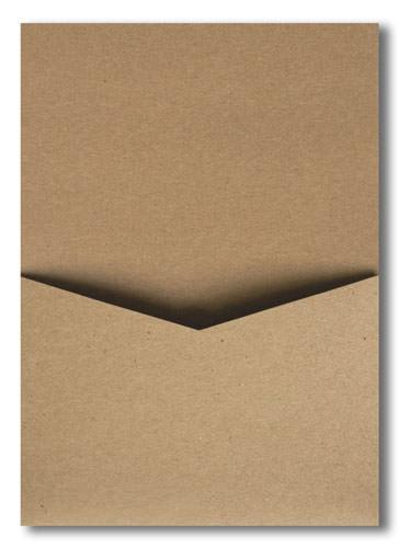 Kraft Brown 65 lb Recycled Pocket Invitation Card, A7 Denali (Discontinued)