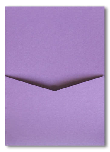 Lavender Metallic Pocket Invitation Card, A7 Denali - Paperandmore.com