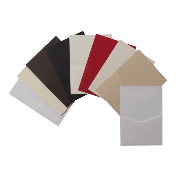 A7 Denali Linen Pocket Cards Sampler Pack - Paperandmore.com