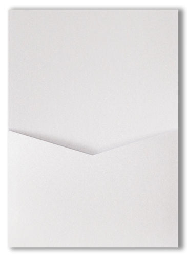 Pearl White Metallic Pocket Invitation Card, A7 Denali - Paperandmore.com