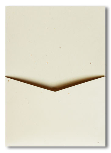 Sand Specks Recycled Pocket Invitation Card, A7 Denali - Paperandmore.com