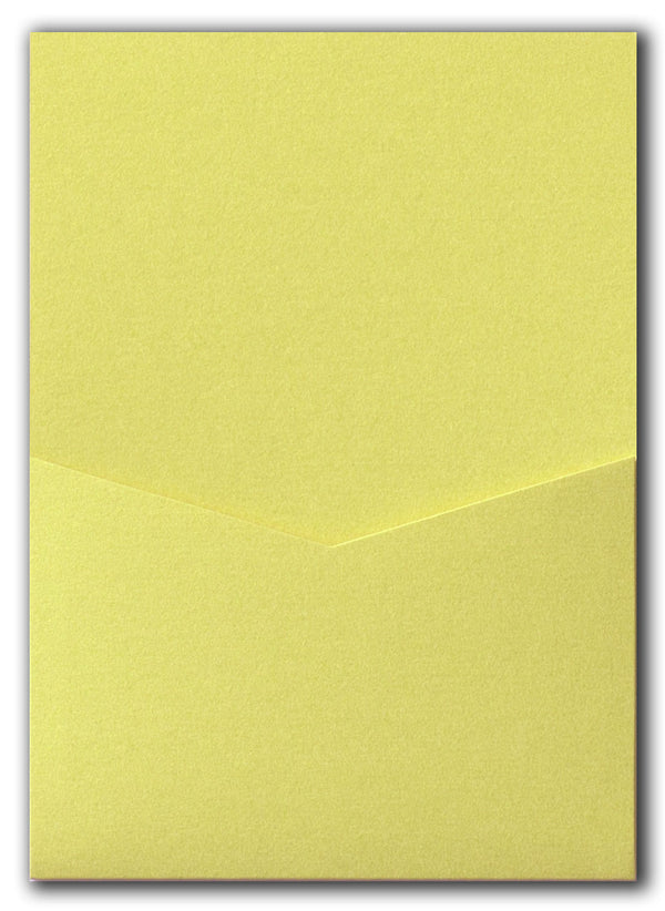 Sunrise Yellow Metallic Pocket Invitation Card, A7 Denali