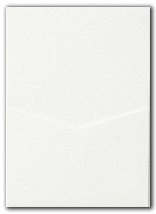A7 Denali Warm White Felt Pocket - Paperandmore.com