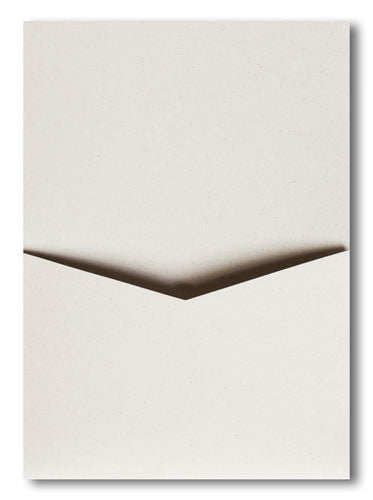 White Fiber Recycled Pocket Invitation Card, A7 Denali - Paperandmore.com