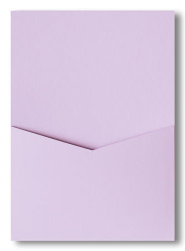 Wisteria Purple Solid Pocket Invitation Card, A7 Denali - Paperandmore.com