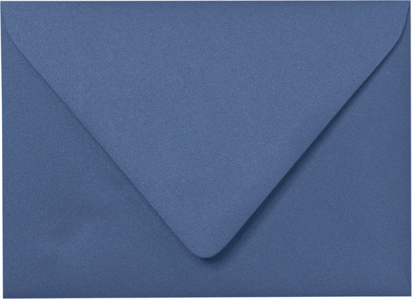 A-7 Electric Blue Metallic Euro Flap Envelopes (5 1/4