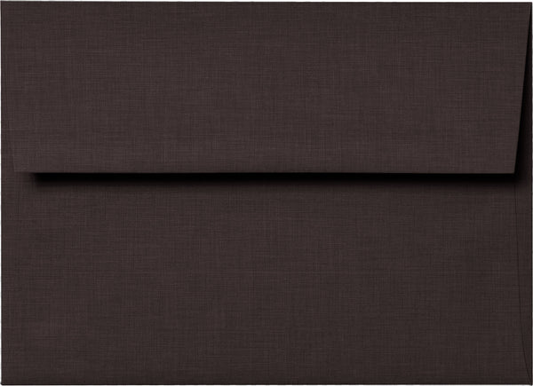 A-1 (RSVP) Dark Brown Linen Envelopes (3 5/8